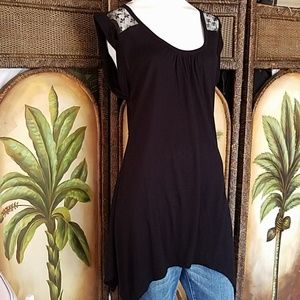 Decree asymmetrical tunic